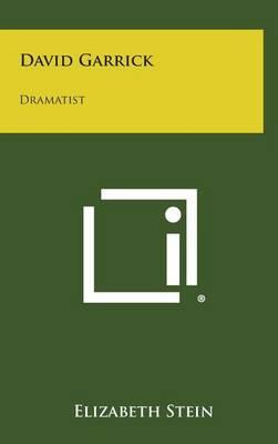 David Garrick: Dramatist