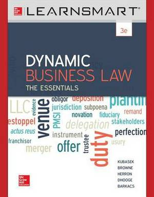 Learnsmart Standalone Access Card for Dynamic Business Law: The Essentials