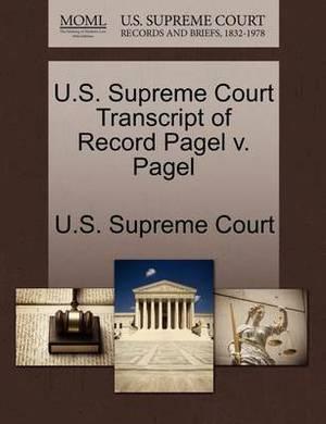 U.S. Supreme Court Transcript of Record Pagel V. Pagel