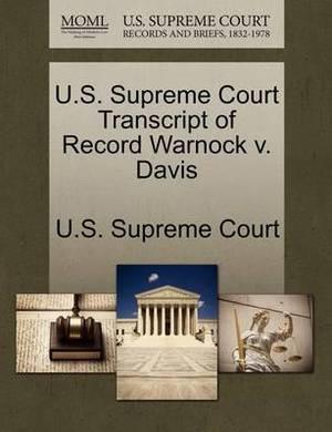 U.S. Supreme Court Transcript of Record Warnock V. Davis