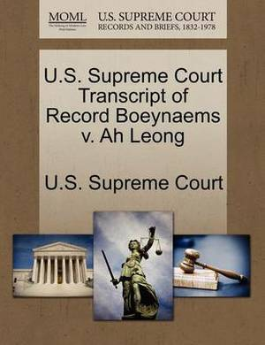 U.S. Supreme Court Transcript of Record Boeynaems V. Ah Leong