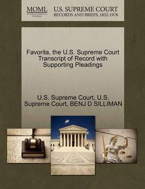 Favorita, the U.S. Supreme Court Transcript of Record with Supporting Pleadings