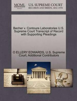 Becher V. Contoure Laboratories U.S. Supreme Court Transcript of Record with Supporting Pleadings