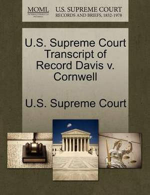 U.S. Supreme Court Transcript of Record Davis V. Cornwell