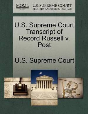U.S. Supreme Court Transcript of Record Russell V. Post