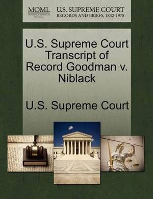 U.S. Supreme Court Transcript of Record Goodman V. Niblack