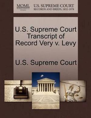 U.S. Supreme Court Transcript of Record Very V. Levy