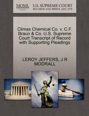 Climax Chemical Co. V. C.F. Braun & Co. U.S. Supreme Court Transcript of Record with Supporting Pleadings