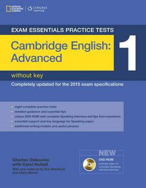 Exam Essentials: Cambridge Advanced Practice Tests 1 w/o key + DVD-ROM