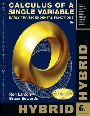 Calculus of a Single Variable, Hybrid: Early Transcendental Functions