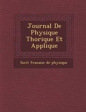 Journal de Physique Th Orique Et Appliqu E