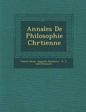 Annales de Philosophie Chr Tienne