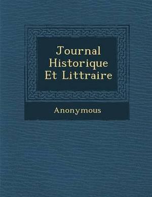 Journal Historique Et Litt Raire
