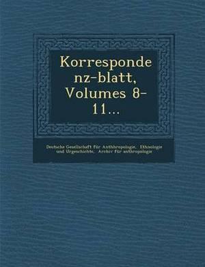 Korrespondenz-Blatt, Volumes 8-11...