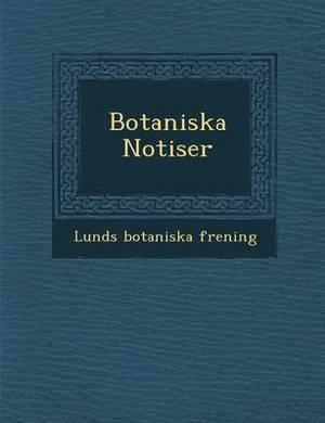 Botaniska Notiser