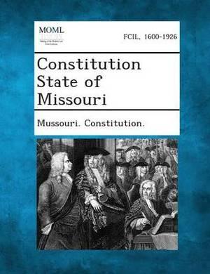 Constitution State of Missouri