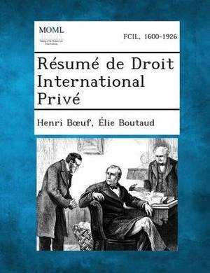 Resume de Droit International Prive