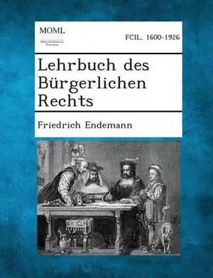 Lehrbuch Des Burgerlichen Rechts