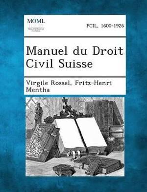Manuel Du Droit Civil Suisse