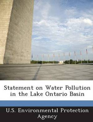 Statement on Water Pollution in the Lake Ontario Basin