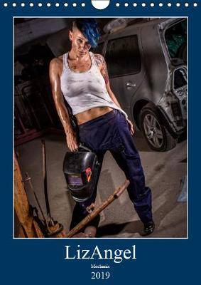 LizAngel Mechanic 2019: Lesbian model poses as mechanic in a car garage