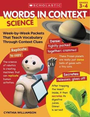Words in Context: Science: Week-By-Week Packets That Teach Vocabulary Through Context Clues