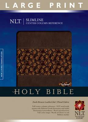 Slimline Reference Bible-NLT-Large Print Center Column Reference