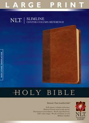 Slimline Center Column Reference Bible-NLT-Large Print