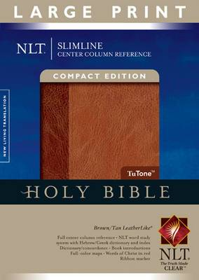 Slimline Center Column Reference Bible-NLT-Large Print Compact