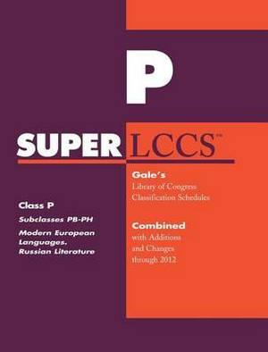 SUPERLCCS 2012: Subclass PB-PH: Modern Languages. Celtic Languages, Uralic, Basque