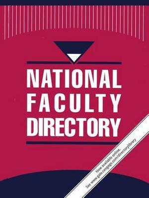 National Faculty Directory: 8 Volume Set