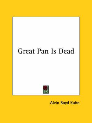 Great Pan Is Dead