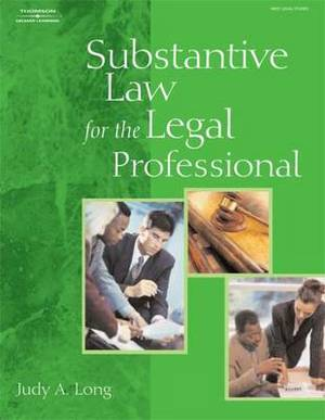 Substantive Law for the Legal Professional