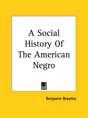 A Social History Of The American Negro