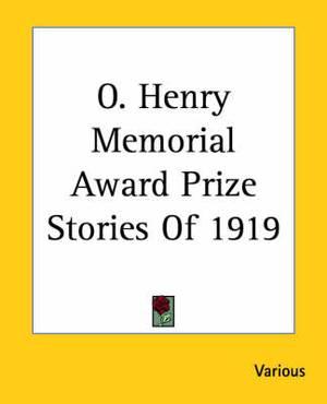 O. Henry Memorial Award Prize Stories Of 1919