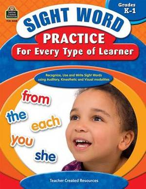 Sight Word Practice for Every Type of Learner Grades K-1