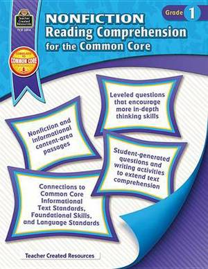 Nonfiction Reading Comprehension for the Common Core, Grade 1