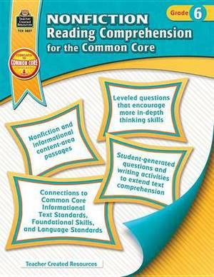Nonfiction Reading Comprehension for the Common Core, Grade 6