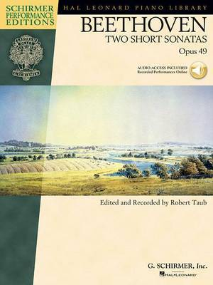 Beethoven: Two Short Sonatas Op.49 (Book/Online Audio)