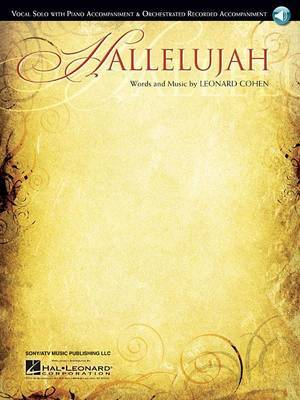 Leonard Cohen: Hallelujah - Vocal Solo/Piano Accompaniment (Book/Online Audio)