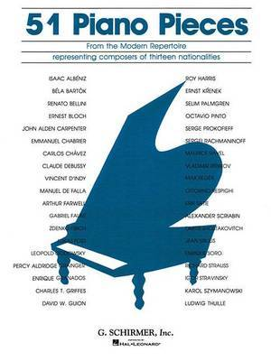 51 Piano Pieces from the Modern Repertoire: Piano Solo