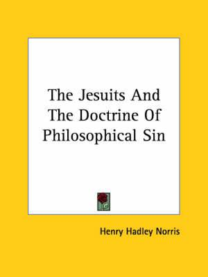 The Jesuits and the Doctrine of Philosophical Sin