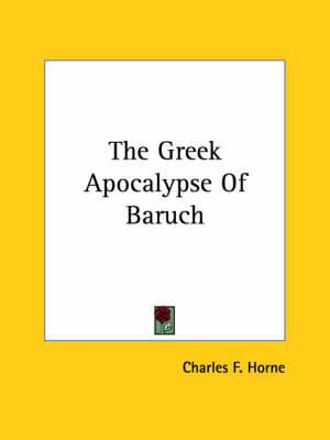 The Greek Apocalypse of Baruch
