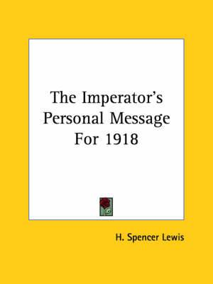 The Imperator's Personal Message for 1918