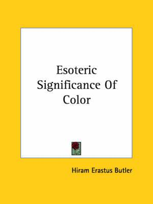 Esoteric Significance of Color