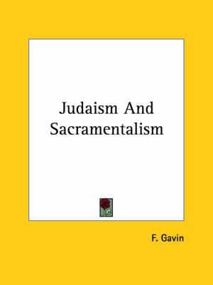 Judaism and Sacramentalism
