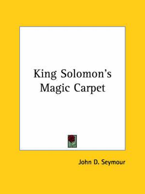 King Solomon's Magic Carpet
