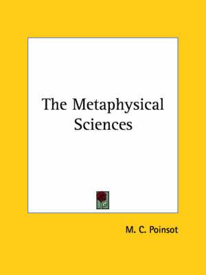 The Metaphysical Sciences