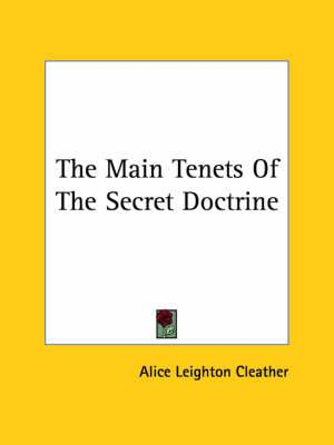 The Main Tenets of the Secret Doctrine
