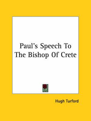 Paul's Speech to the Bishop of Crete